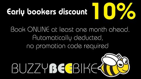 early bookers discount | Buzzy Bee Bike, Chiang Mai, Thailand