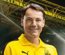 cartão de autógrafo Arno Michels, assistente técnico do Borussia Dortmund para a temporada 2016/2017
