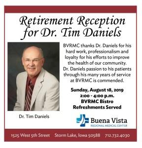 BVRMC Dr. Daniels Retirement Reception