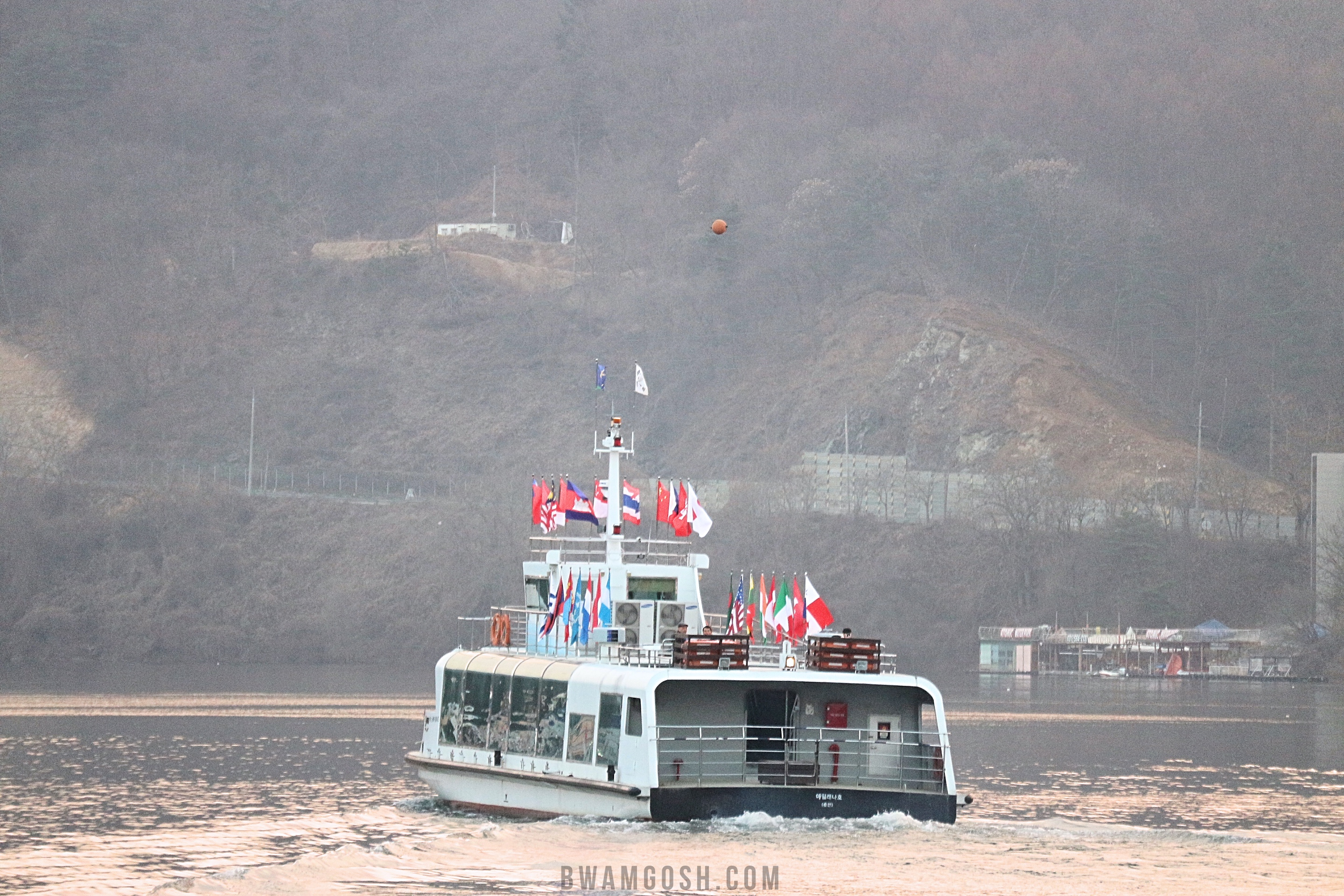 The ferry heads to Nami Island