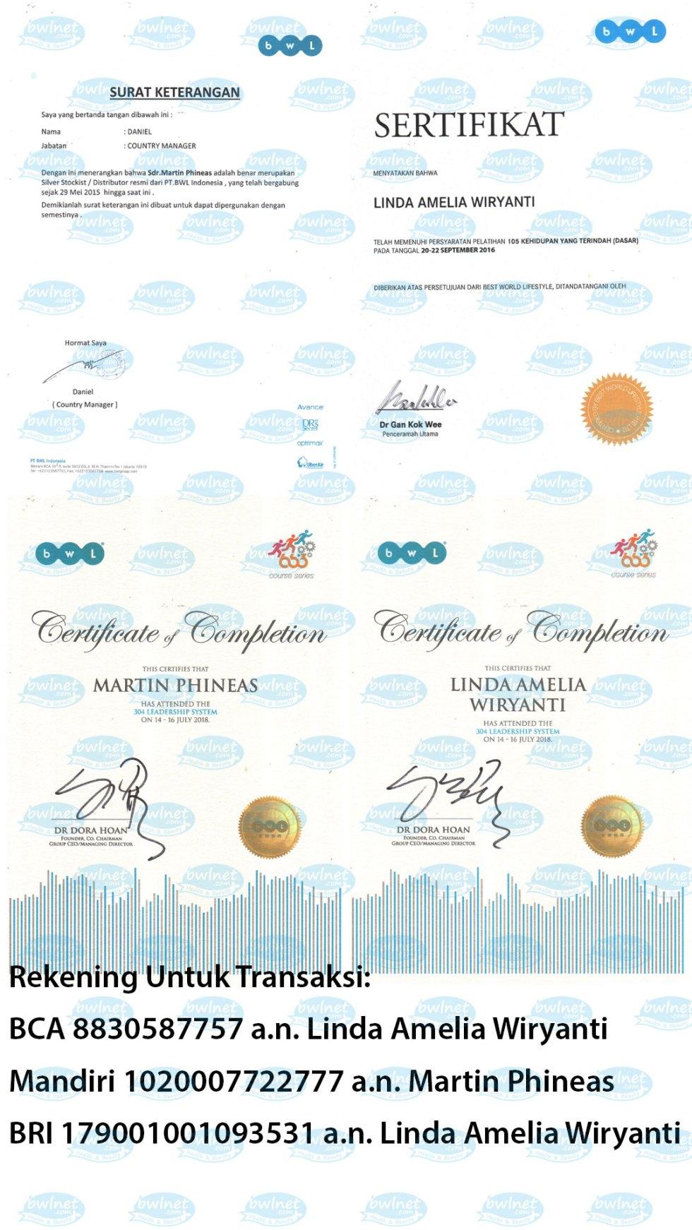 bwlnet-sertifikat-rekening