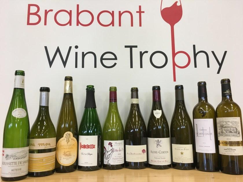 Brabant Wine Trophy 2017 - Les 10 cuvées sélectionnées