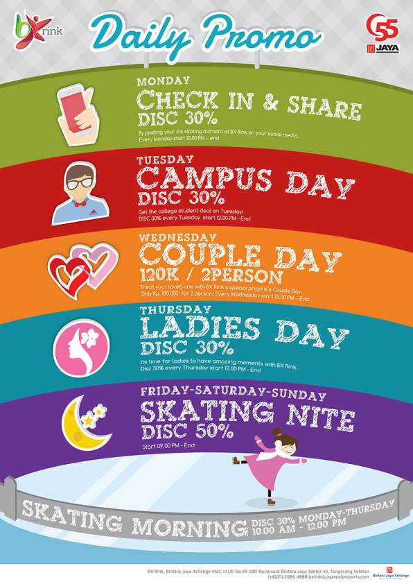 Everyday discount @ BX Rink!