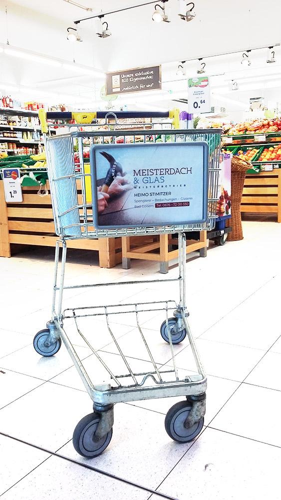 Werbefläche/Werbeschild auf einem Einkaufswagen by mOnA