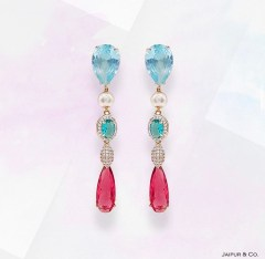 teardrop earrings. from pakistani jewelers jaipur and co