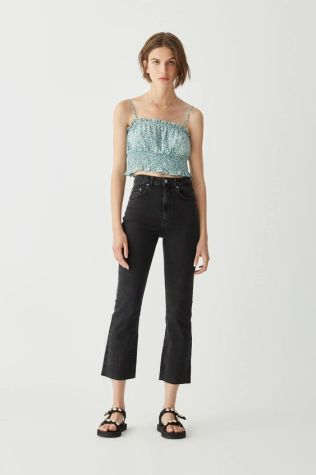 Cropped kick flare jeans $35.90