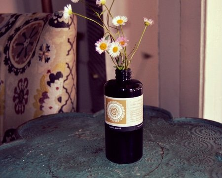 turning skincare bottles into vases