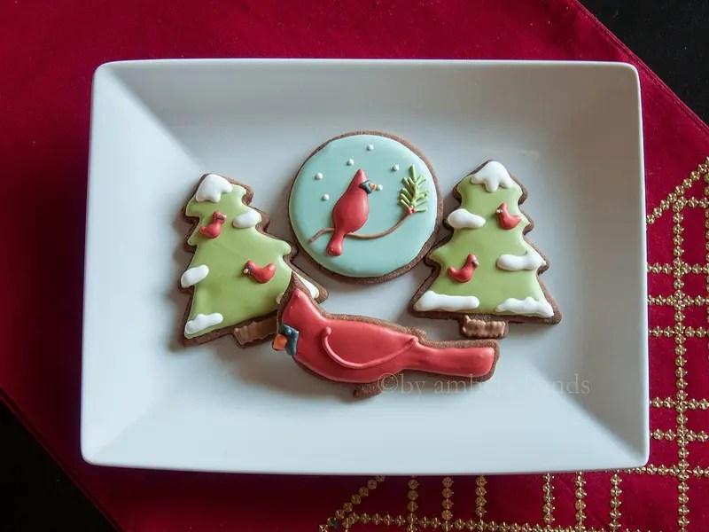 Cardinal Christmas Cookies