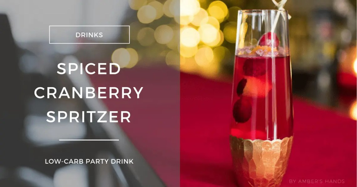 Spiced Cranberry Spritzer -by amber's hands-