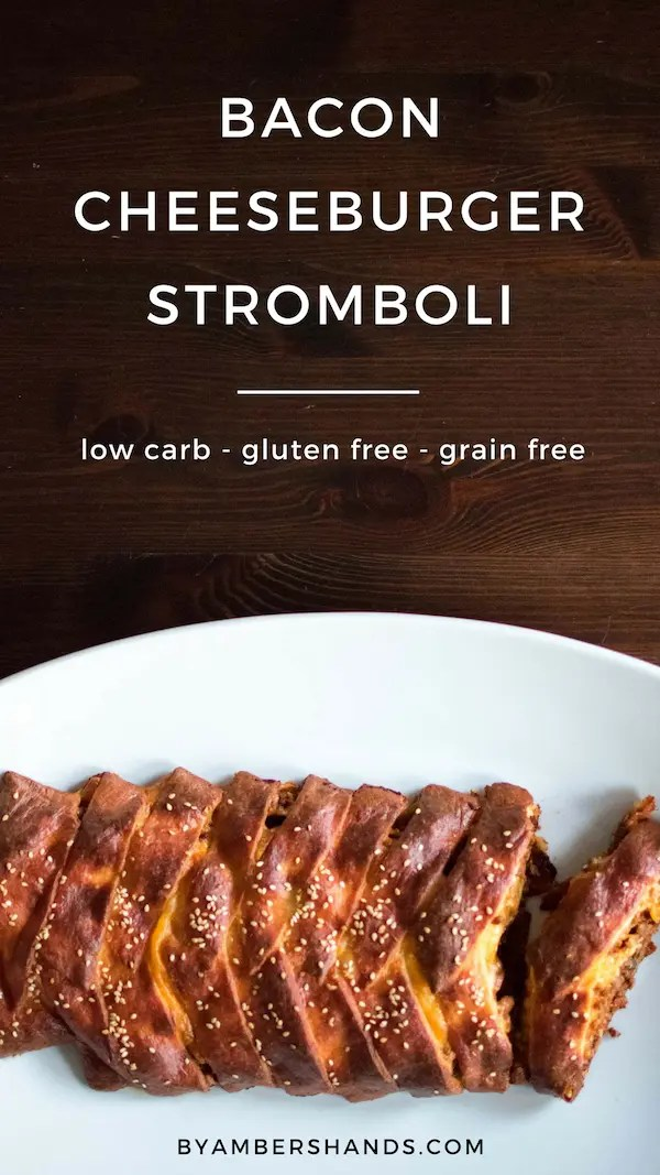 Low Carb Bacon Cheeseburger Stromboli -by amber's hands-