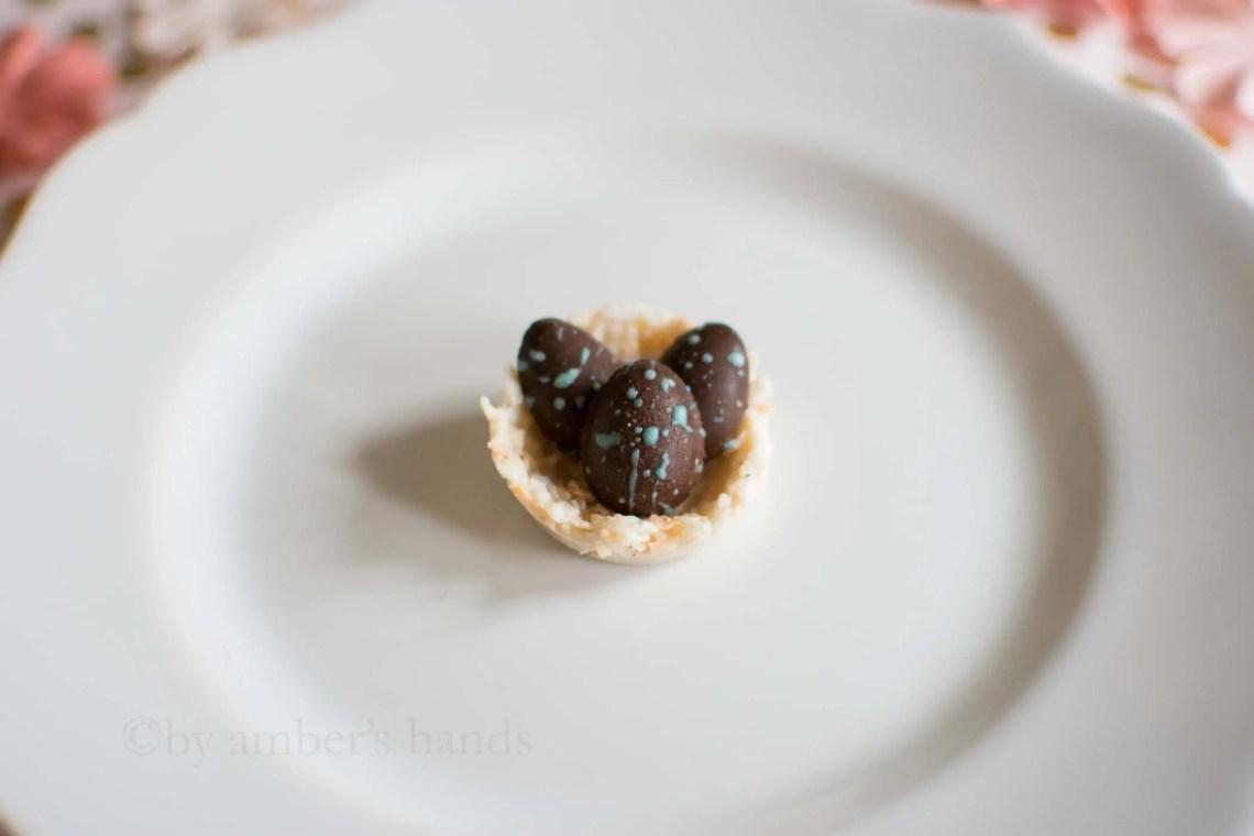 Easy No Bake Easter Egg Nest Cookies -keto cake walk-