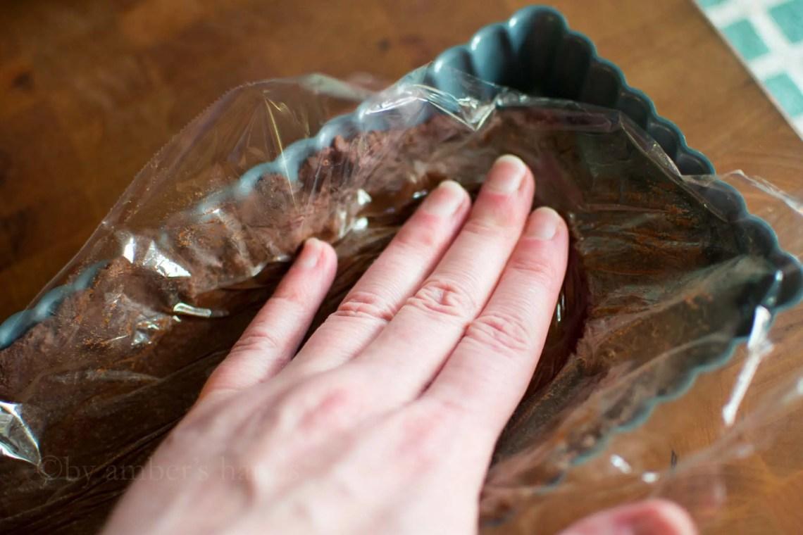 Chocolate Raspberry Tart -by amber's hands-