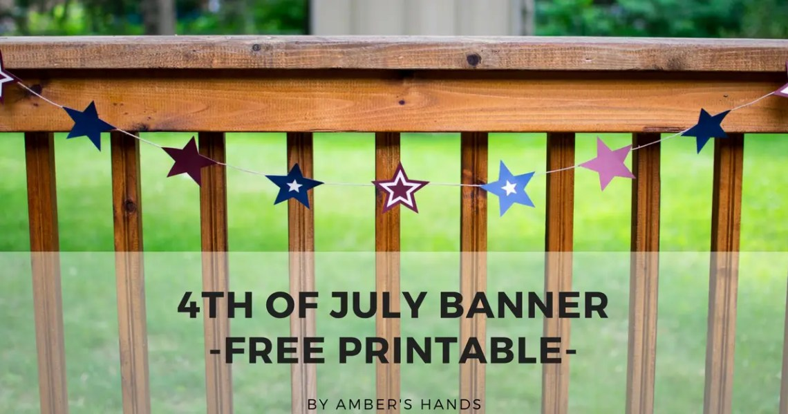 4th of July Banner - Free Printable
