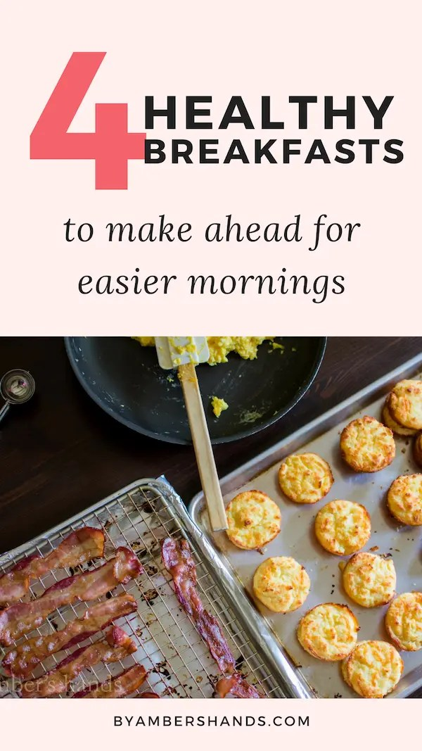 Eating healthy is much easier when you have a plan! Make these breakfasts ahead of time to keep you on plan! #lowcarb #healthy #breakfast #makeahead #keto