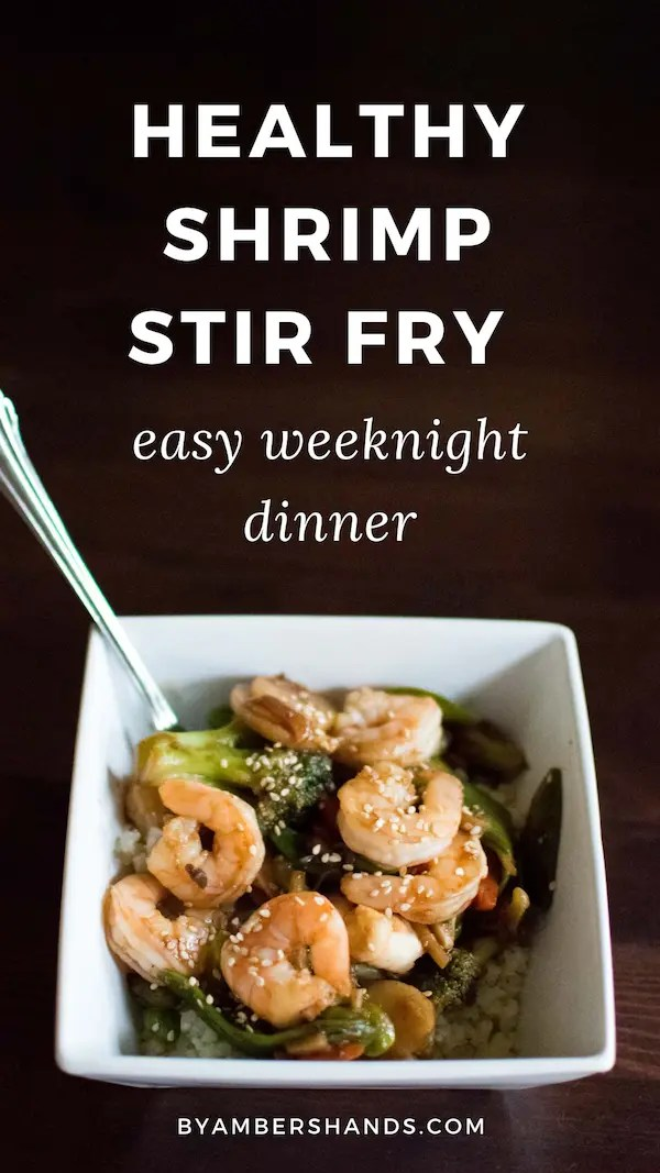 Make this healthy low carb shrimp stir fry in half an hour for a quick and easy weeknight meal that will keep you on plan! #healthy #lowcarb #keto #dinner