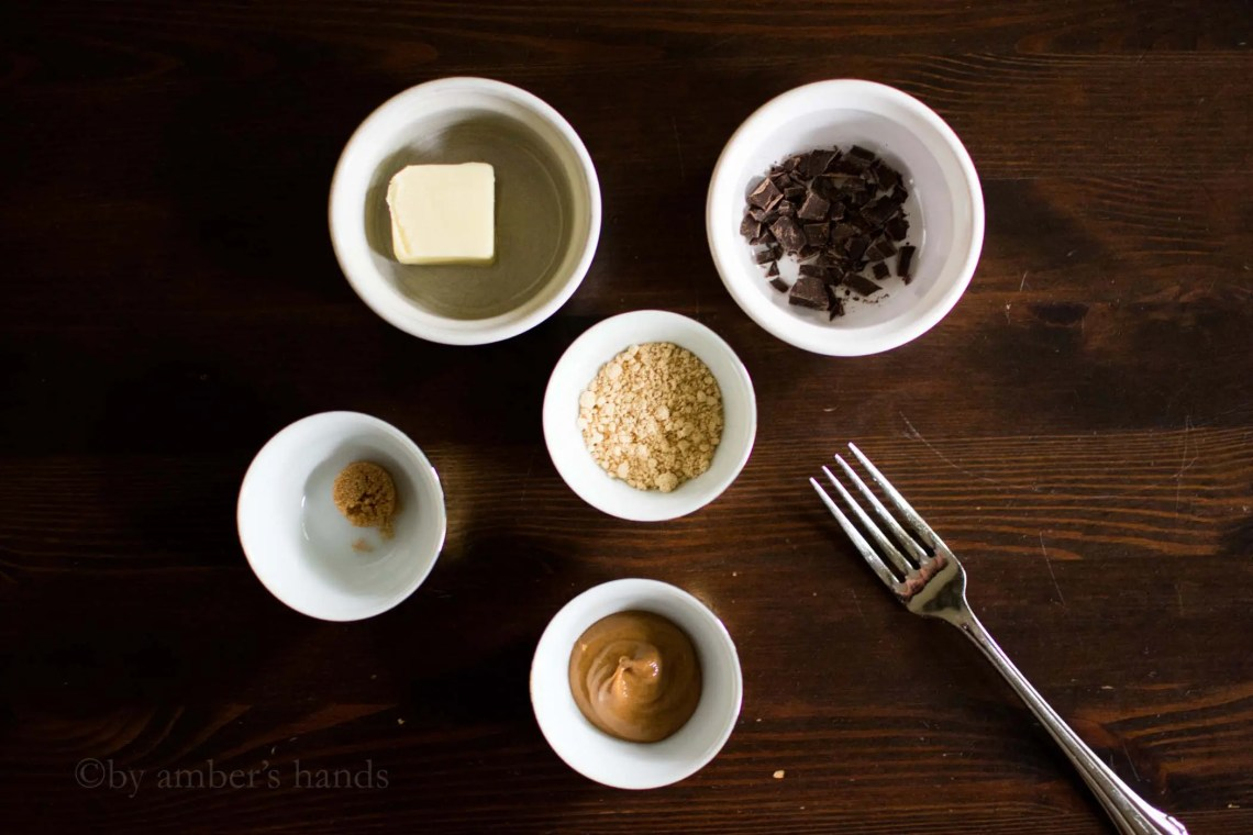 Ingredients for Peanut Butter Cookie Dough