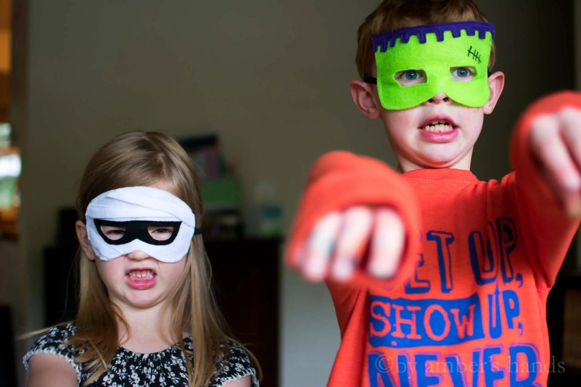 DIY Felt Halloween Masks -by amber's hands-