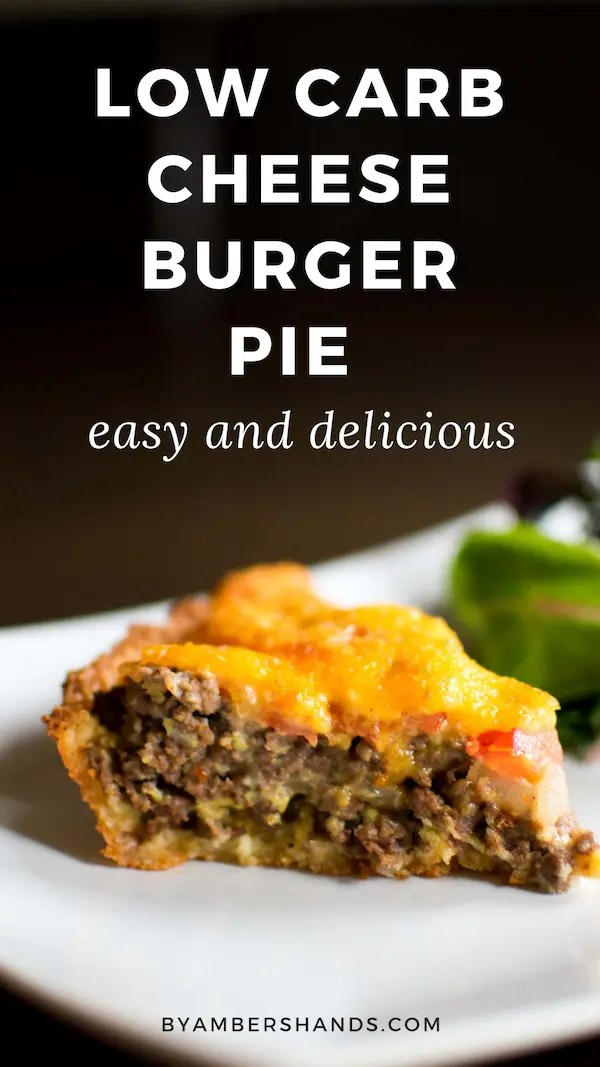 Low Carb Cheeseburger Pie is an easy and delicious weeknight meal that the family will love! #keto #lowcarb #dinner #easy