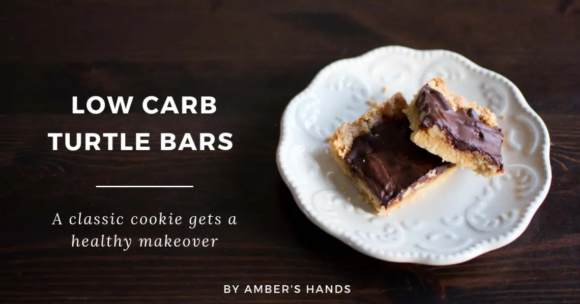 Low Carb Turtle Bars -by amber's hands-
