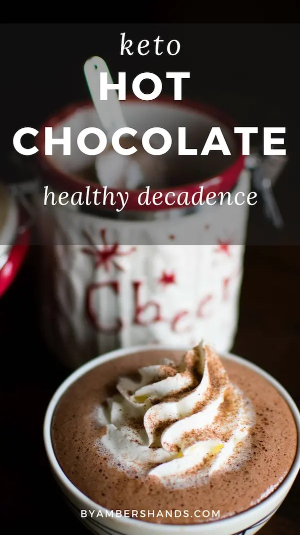 This keto hot chocolate mix is chocolate decadence that can still help you lose weight! #keto #lowcarb #hotcocoa #chocolate