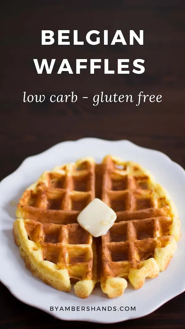 Yes, you CAN make crisp and fluffy Belgian waffles that are low carb and gluten free! #lowcarb #keto #glutenfree #breakfast #waffles