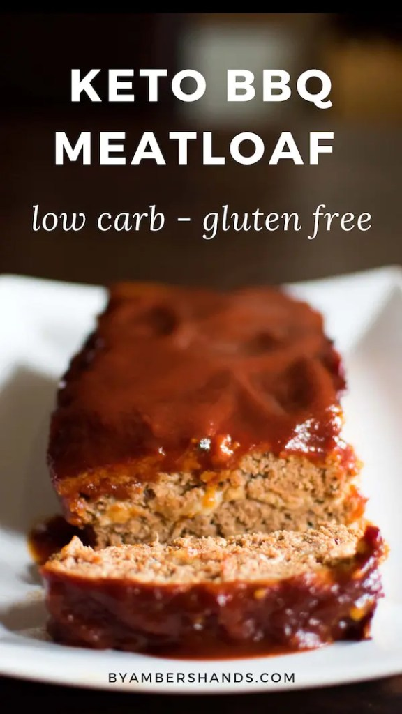 Make this Keto BBQ Meatloaf stuffed with cheese and make your low carb dinner dreams come true! #keto #lowcarb #glutenfree #grainfree #meatloaf #dinner #easy