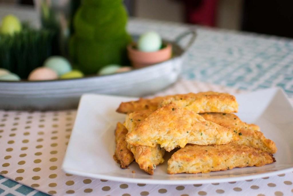 Cheddar & Chive Keto Scones -keto cake walk-
