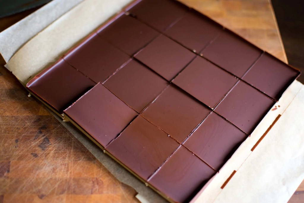 Low Carb Chocolate Peanut Butter Bars -keto cake walk-
