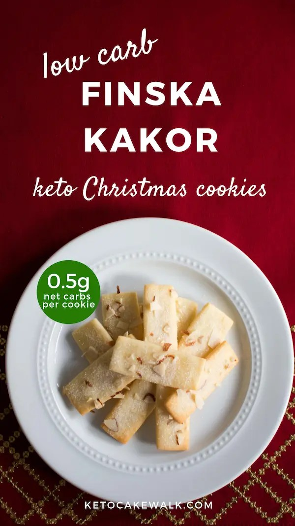 These SUPER easy Christmas cookies will be your new favorite! Almond shortbread cookies taste amazing even without all the carbs! Just 0.5g net carbs per cookie. #lowcarb #keto #christmas #cookies #almond #shortbread #glutenfree #grainfree