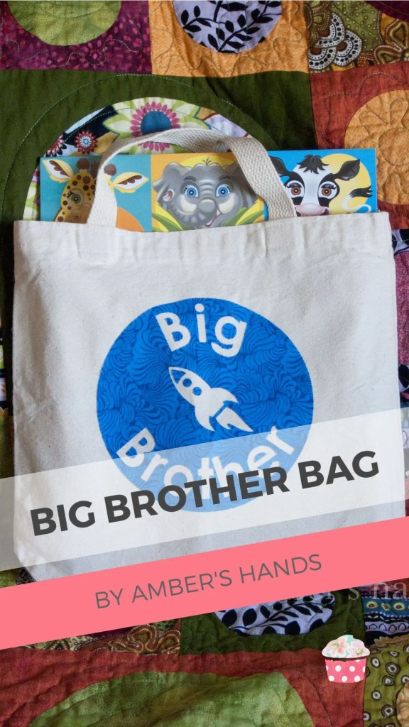 Welcoming a new sibling into the family can be hard on a kid. That's why I made my son a big brother bag to give him when his little sister came home. #siblings #newbaby #brother #sister #gift #oldersibling #bag #diy #present