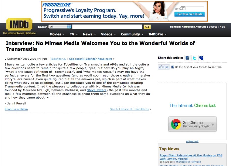 NMM on IMDb