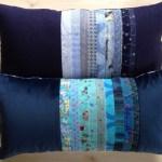 patchwork maskinbroderi genbrug rester quilt