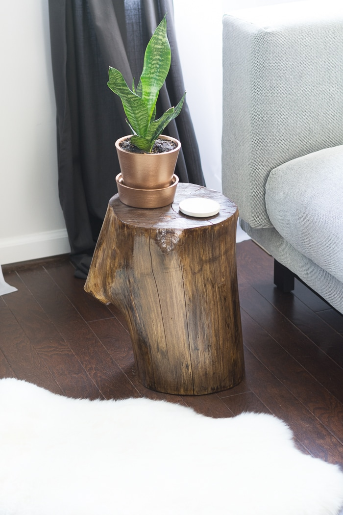 Make A Tree Stump Side Table Simply Designing With Ashley