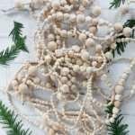 How To Make A Stunning Simple Diy Wood Bead Christmas Garland