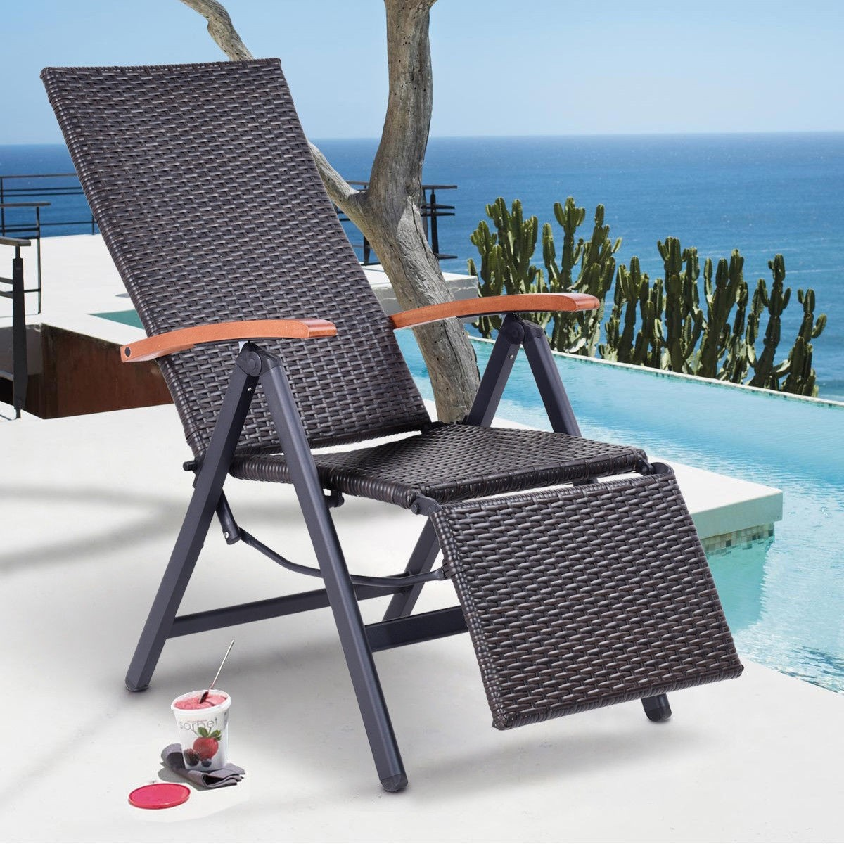 Youu0027re Viewing: Garden Folding Rattan Aluminum Recliner Chair   Login To  See Prices