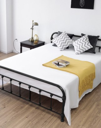 Queen Size Metal Steel Bed Frame w/ Stable Metal Slats – By Choice ...
