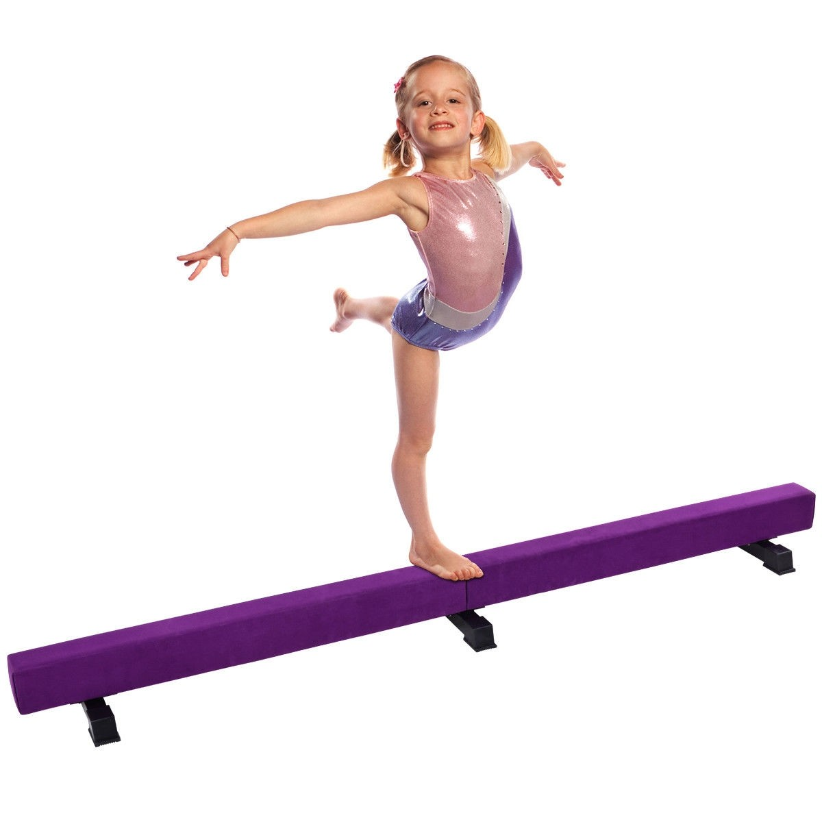 8fb493784250 8 ft Gymnastics Kids Suede Training Floor Balance Beam – By Choice ...
