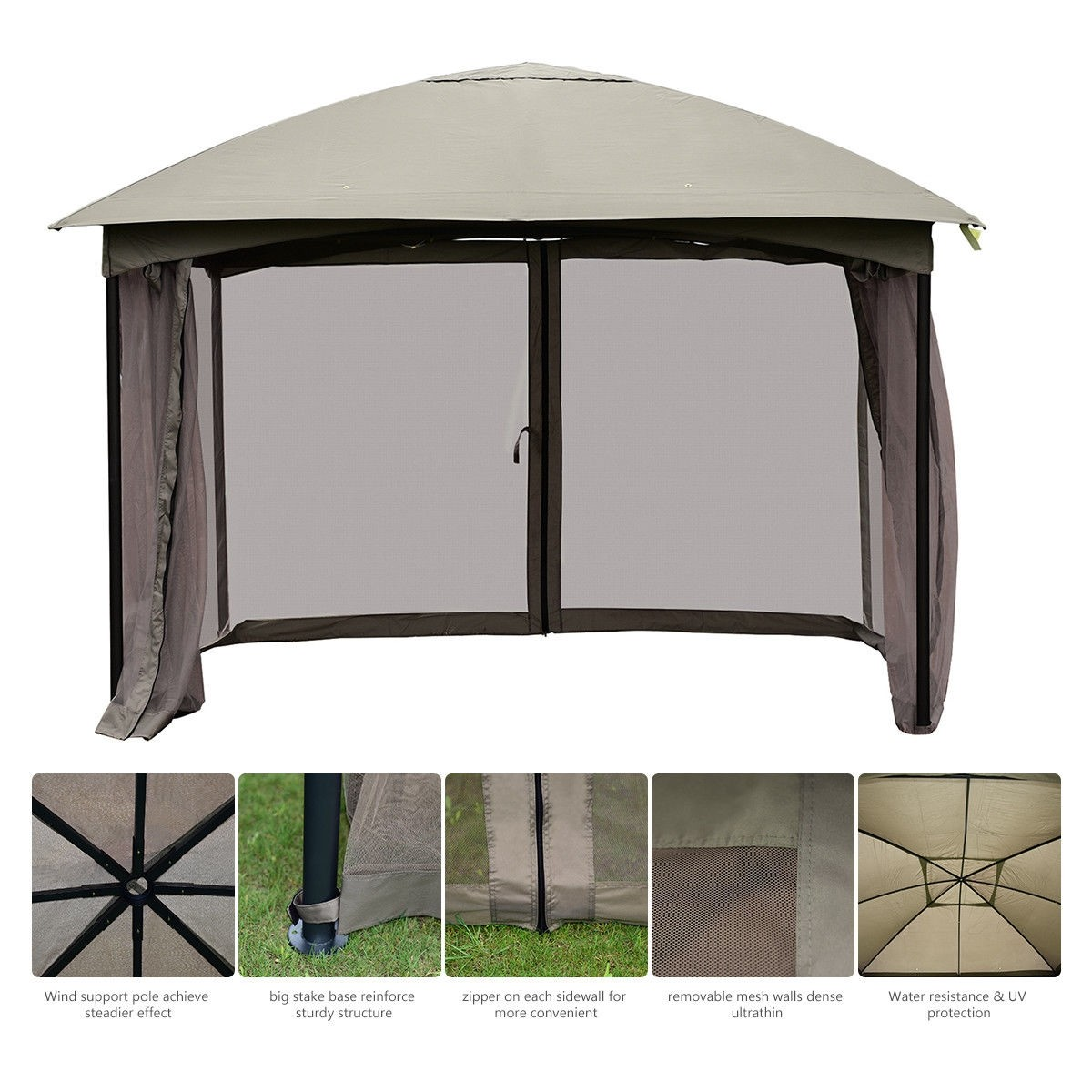 Genial 11.5FT Patio Gazebo Canopy Tent Wedding Party Awning Mosquito Netting