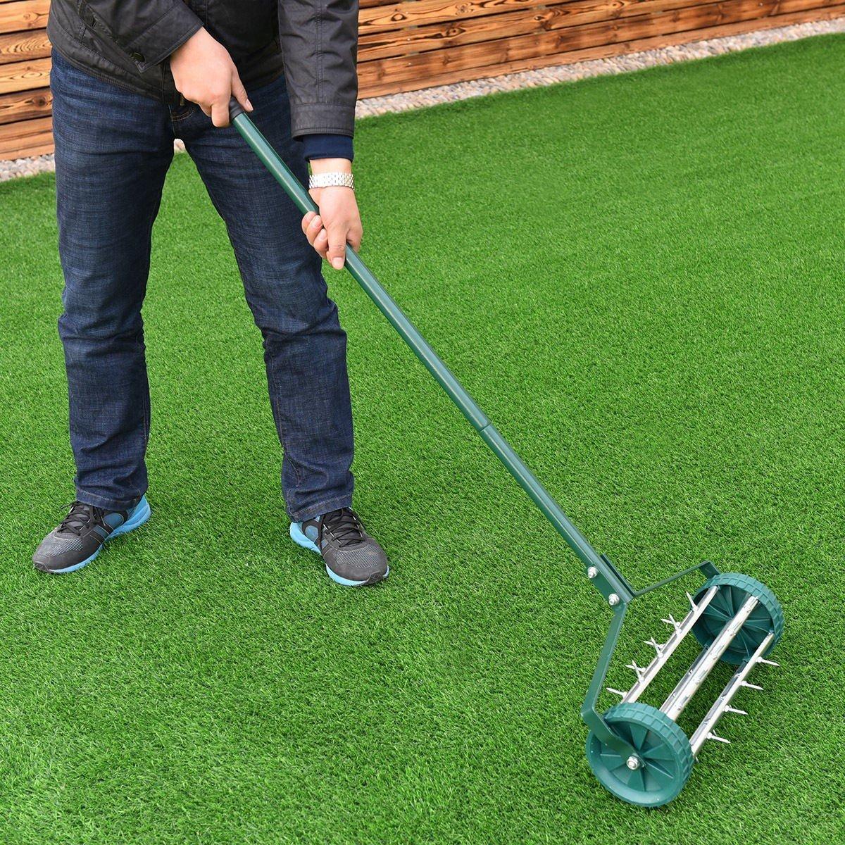 Bon Heavy Duty Rolling Garden Lawn Aerator