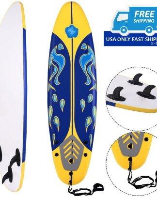 6' Surfboard Surf Foamie Boards Surfing Beach Ocean Body Boarding 3 Color