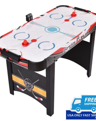 """48""""Air Powered Hockey Table Indoor Sports Game Electronic Scoring Red Puck Kids"""