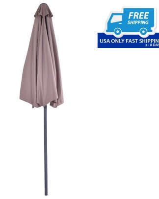 9 ft Half Round Patio Umbrella Sunshade