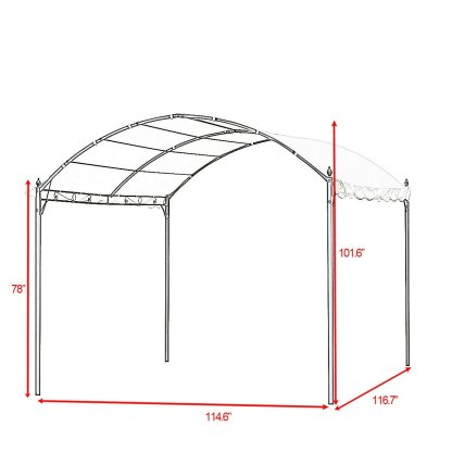 10' x 10' Outdoor Canopy Tent Awning Arch Style