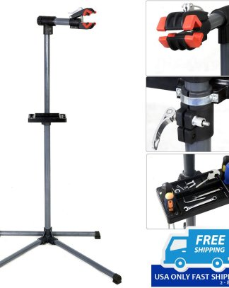 "Pro Bike Repair Stand Adjustable 39"" To 60"" w/ Telescopic Arm Cycle Bicycle Rack"
