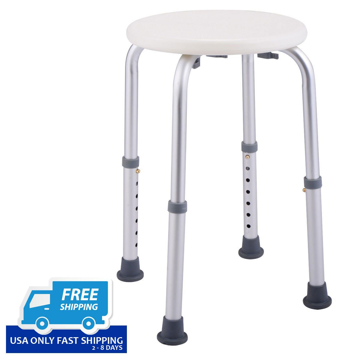 7 Height Adjustable Bath Shower Chair Medical Seat Stool Bath Tub ...