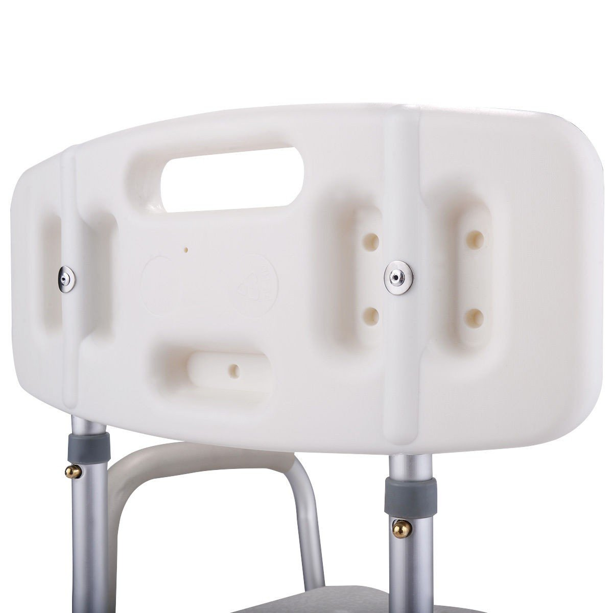 6 Height Adjustable Medical Shower Chair Stool Bath Tub w/ Back ...