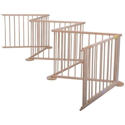 Baby Playpen 6 Panel Foldable Wooden Frame Kids Play Center Yard Indoor & Outdoor