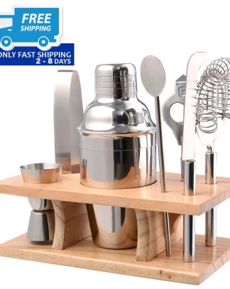 Stainless Steel Cocktail Shaker Mixer Bar Set