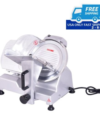 "10"" Blade Commercial Meat Slicer Deli Meat Cheese Food Slicer Industrial Quality"