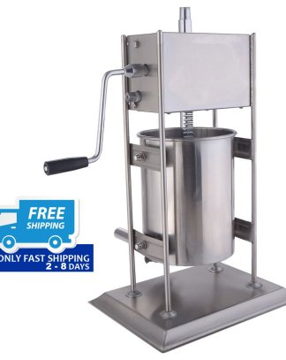 10L Vertical Sausage Stuffer 2 Speed Filler Meat Maker Machine Stainless Steel